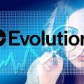 Frau, Kurve, Evolution Logo