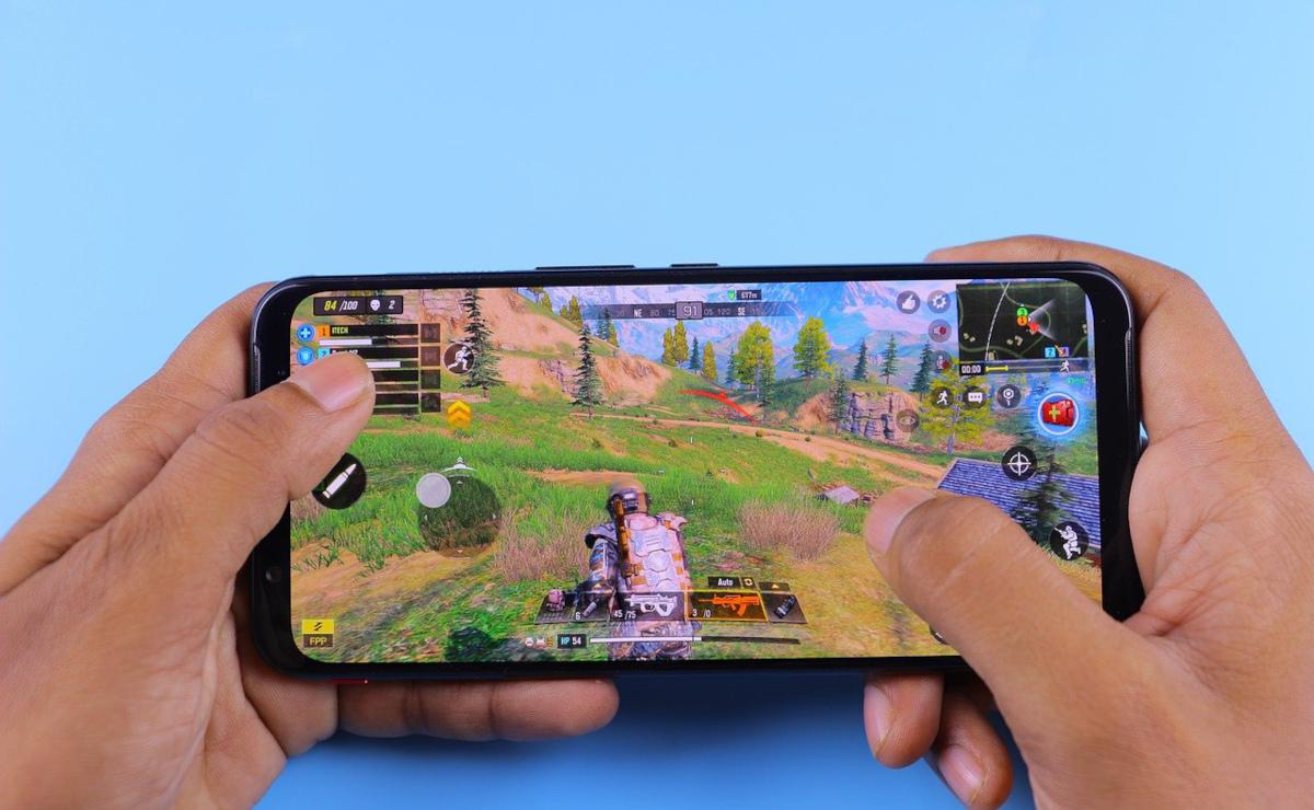 Handyspiel Smartphone Finger