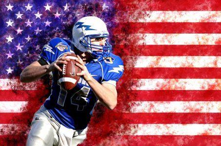 Football-Spieler, Flagge USA
