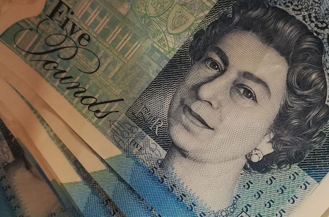 Pfund Sterling Note Nahaufnahme