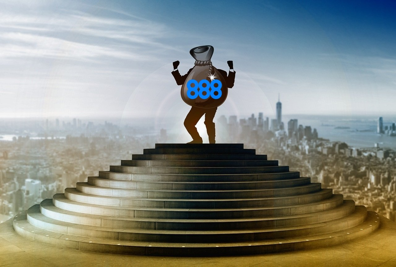 888 Logo, Treppe, Sack