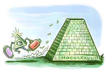 Online poker pyramid scheme