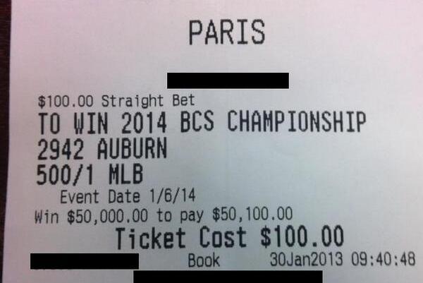 Auburn fan Mark Skiba