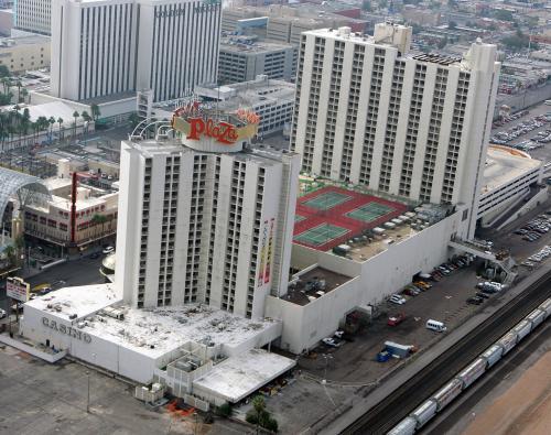 Plaza Hotel Casino Las Vegas Wranglers ice hockey rink