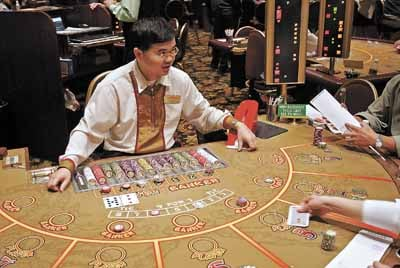 Nevada gaming revenues February gaming revenues Macau baccarat