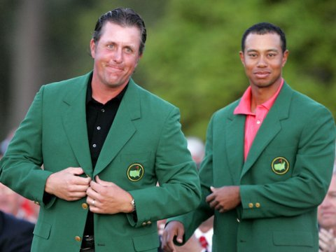 Tiger Woods Phil Mickelson The Masters