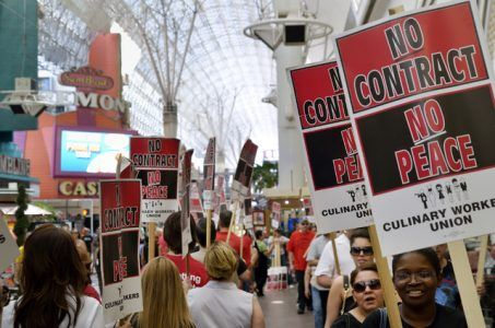 Downtown Las Vegas Culinary union strike