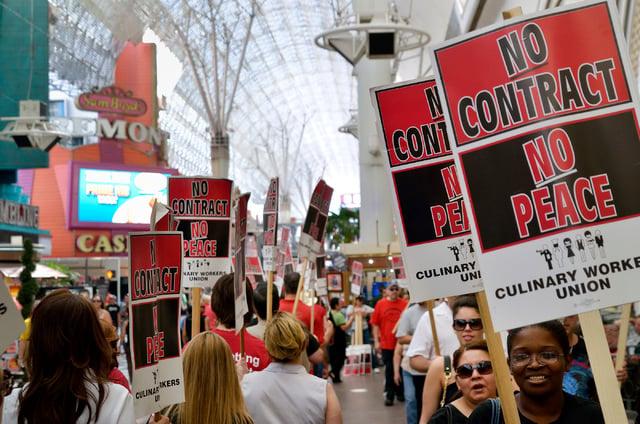 Downtown Las Vegas Culinary union strike