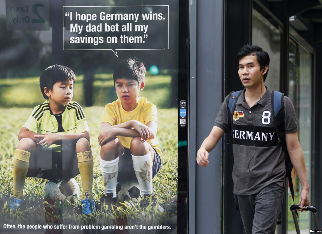 As World Cup fever overtook the entire globe last week, an anti-gambling campaign in Singapore backfired.