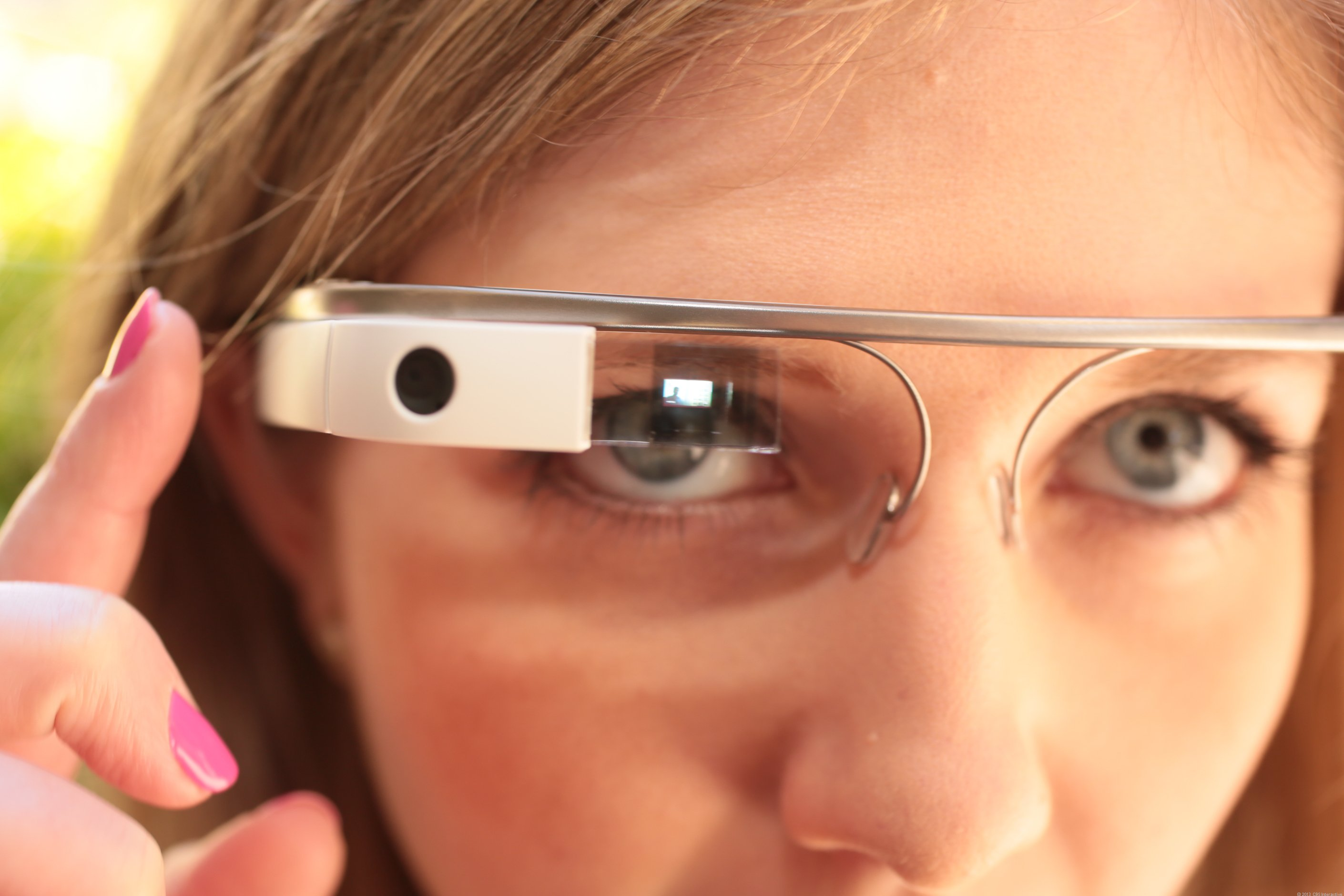 Google glass morning female pov