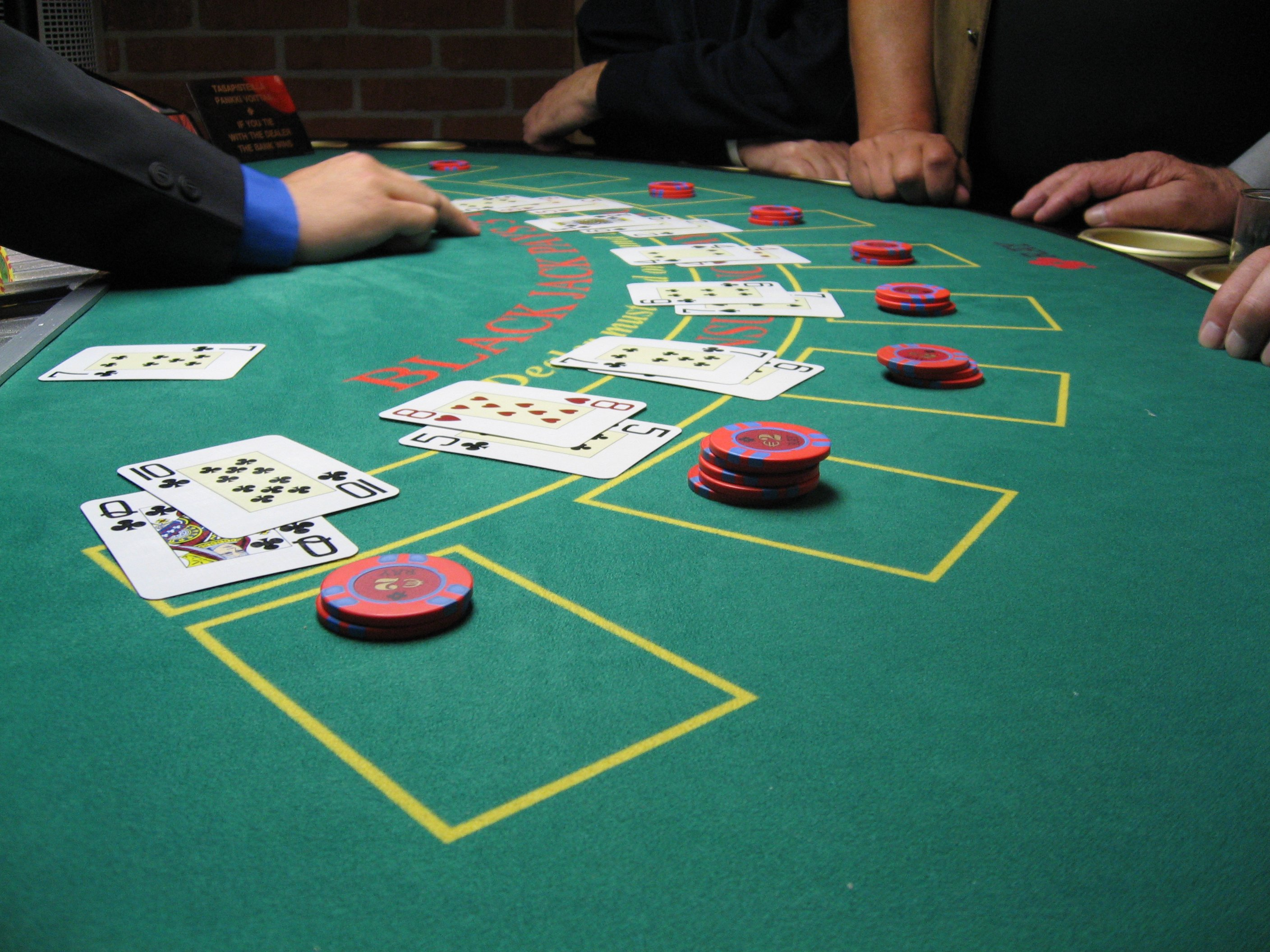 Black-jack gambling game company casino nights