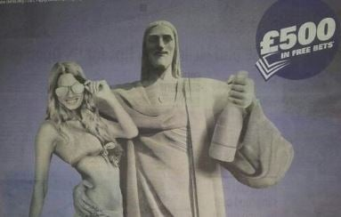 "Banned Sporting Index ""Christ the Redeemer"" Ad"