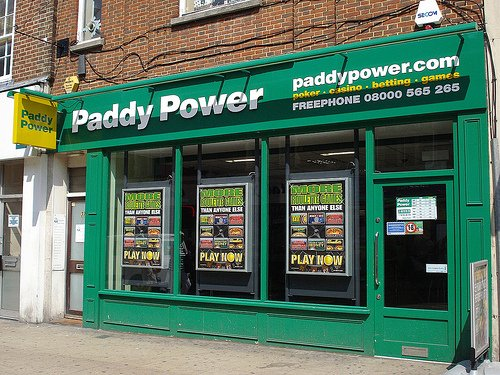 A UK Paddy Power storefront