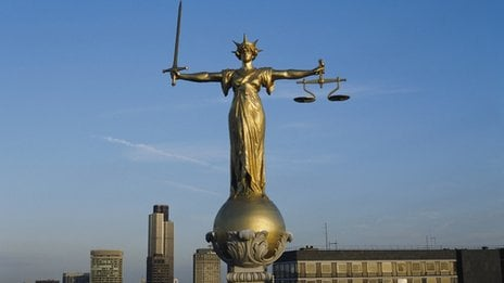 Scales of Justice, Old Bailey, London