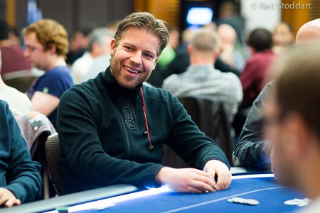 WSOP Main Event chip leader Jorryt Van Hoof