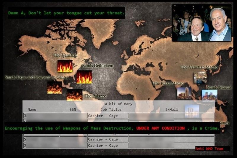 Iranian hackers Las Vegas Sands Corp