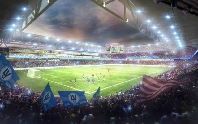 Soccer stadium Las Vegas, artist's rendition