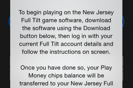 Full Tilt New Jersey mistaken license