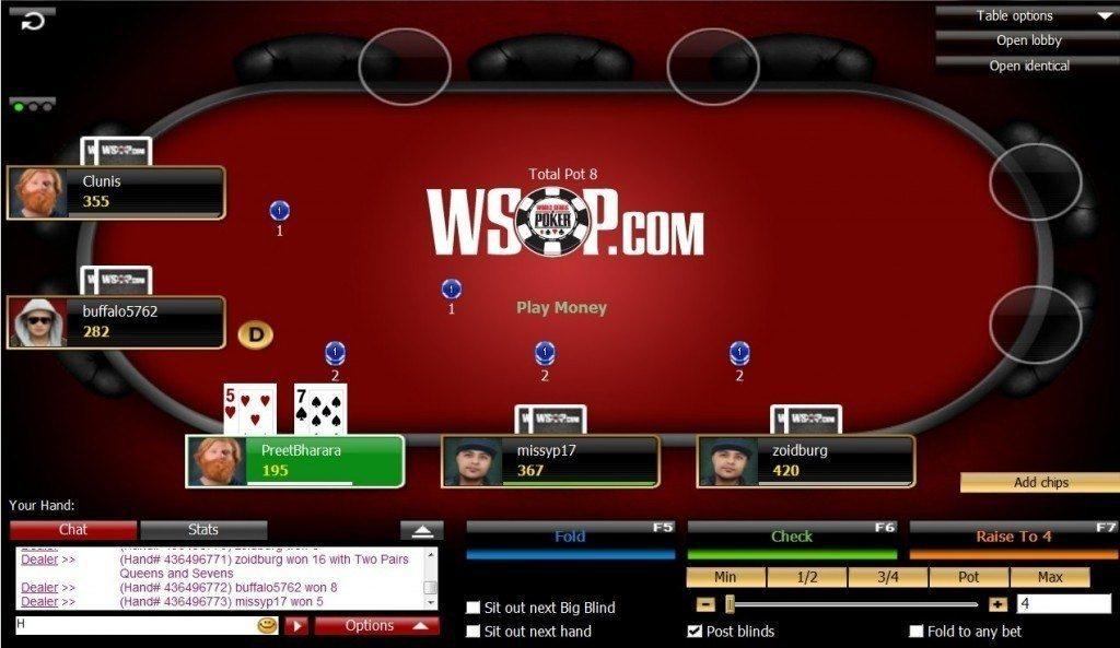 WSOP 888 player sharing NJ