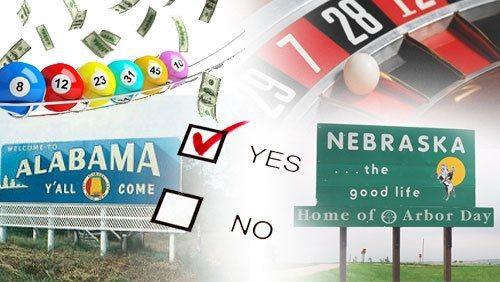 Gambling amendments Nebraska Alabama