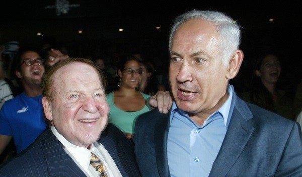 Sheldon Adelson and Binyamin Netanyahu