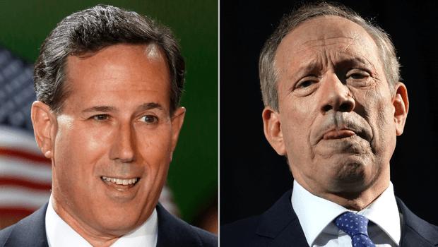 GOP hopefuls Rick Santorum and George Pataki online gambling
