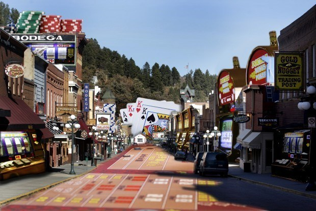 Deadwood gambling industry South Dakota laws roulette craps poker