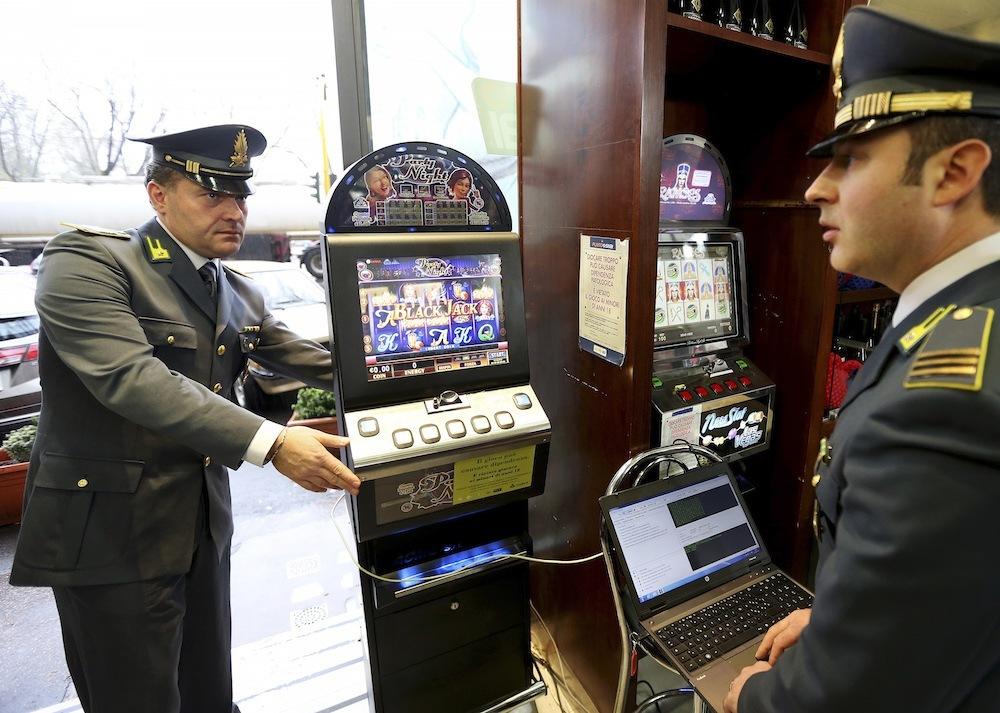 Mafia 'Ndrangheta Italy police seizure raid gambling