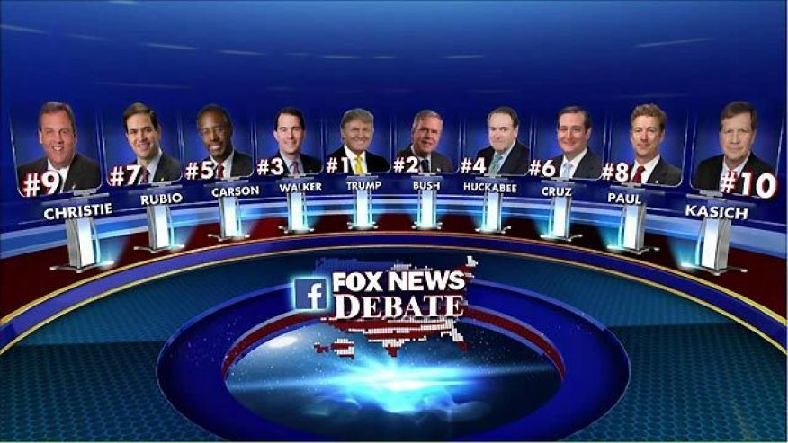 Fox News Debate GOP candidates Donald Trump