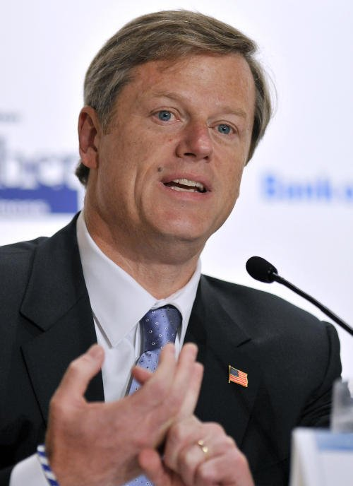 Massachusetts Governor Charlie Baker Wynn Everett appovals