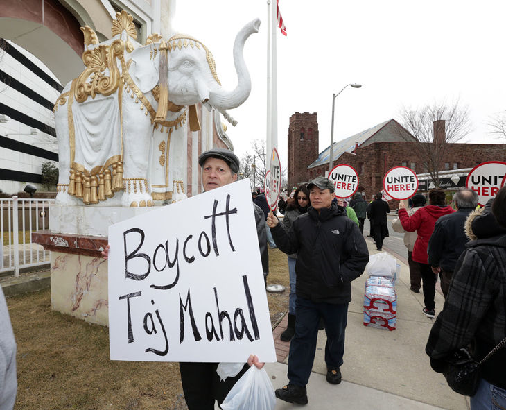 Trump Taj Mahal Atlantic City union strike