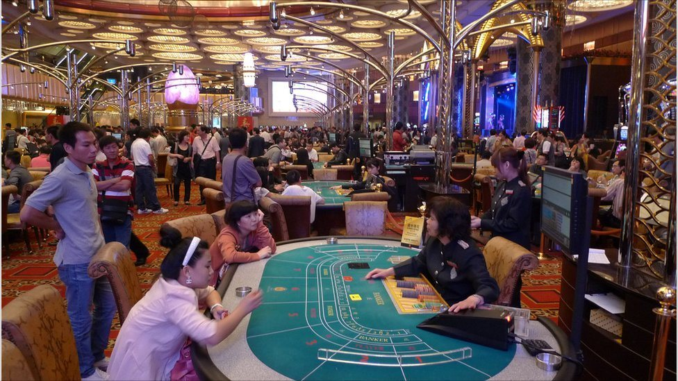 Macau casinos August revenues down