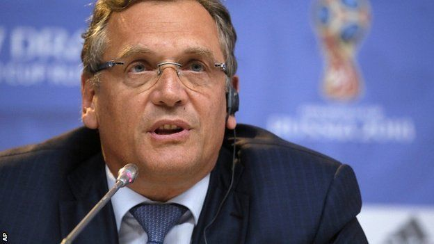 Jerome Valcke is accused of profiting from a scheme to sell World Cup tickets at well above face value. (Image: BBC Sport)