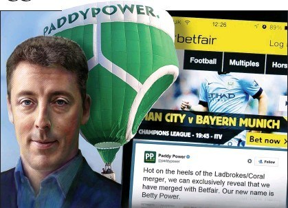 Breon Corcoran Paddy Power Betfair merger