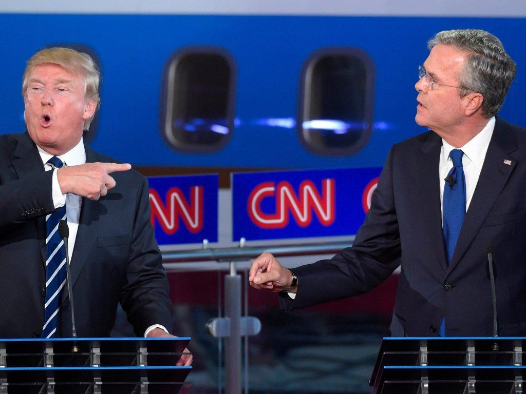 Donald Trump Jeb Bush GOP debate casinos Florida