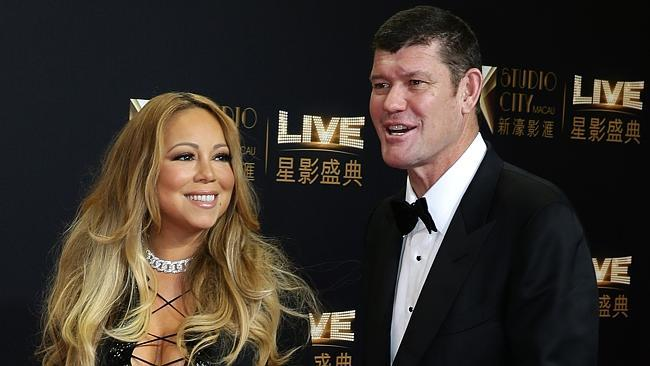 Mariah Carey and James Packer, Studio City Macau opening night