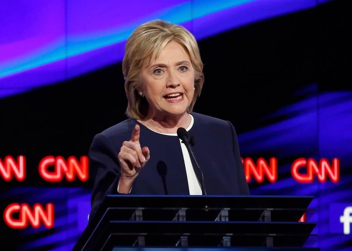 Hillary Clinton Democratic debate Wynn Las Vegas