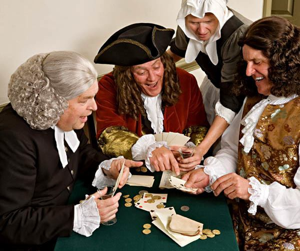 Thanksgiving pilgrims gambling poker US history
