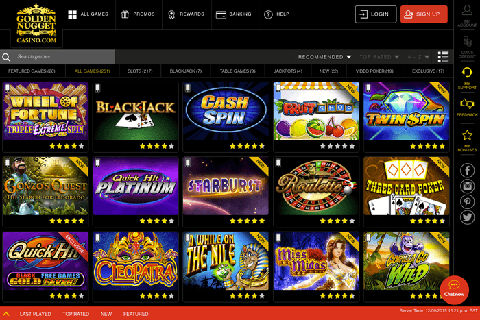 golden nugget online casino starburts