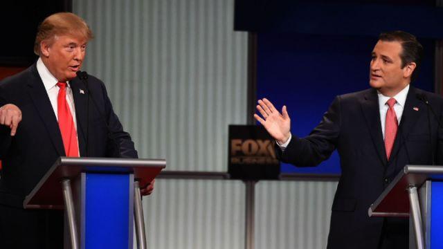 GOP debate Donald Trump Ted Cruz
