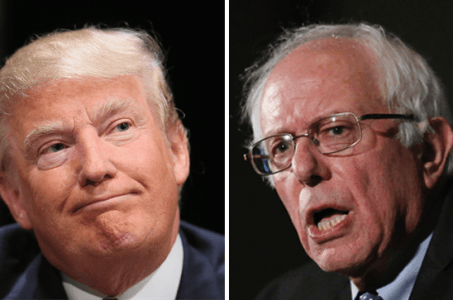 New Hampshire voters Sanders Trump