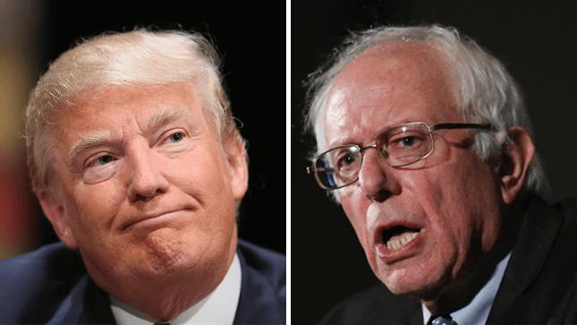 New Hampshire voters Sanders Trump