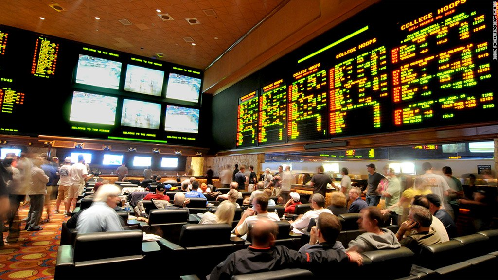 Nevada casino revenue Las Vegas sportsbooks