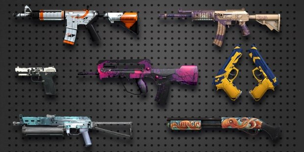 Counter-Strike skins virtual gambling market