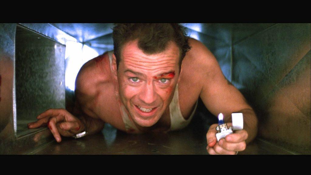casino catastrophes Bruce Willis ventilation shaft
