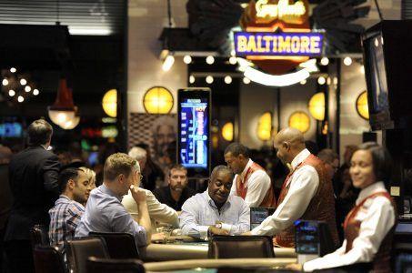 Maryland casino revenue Baltimore gambling