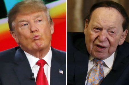 Sheldon Adelson Donald Trump $100 million