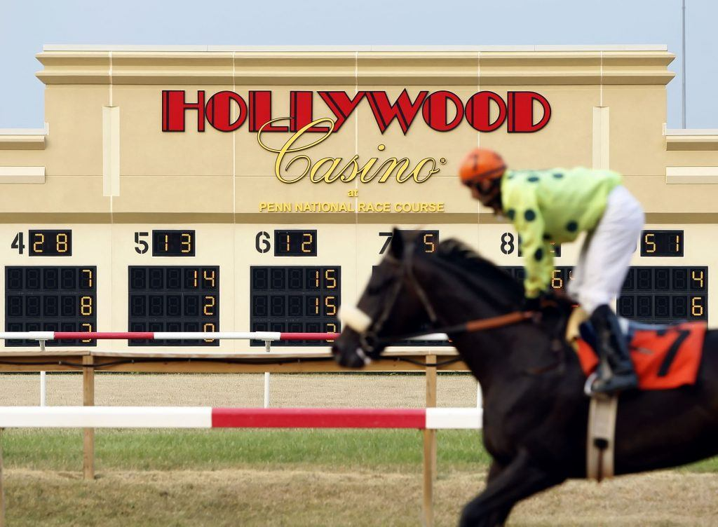 Horses return to the stables after a race, at Penn National race track in East Hanover Twp. Thursday July 8, 2010.CHRIS KNIGHT, The Patriot-News