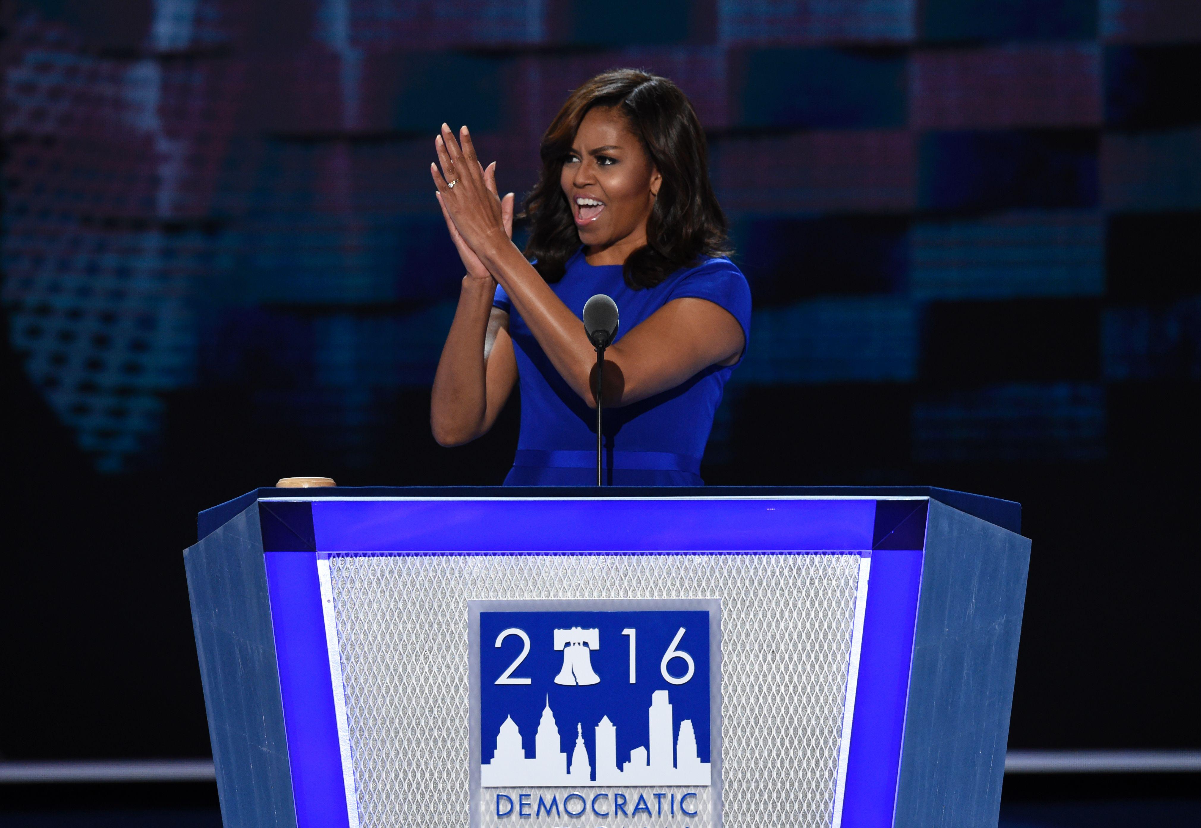 Donald Trump 2016 Michelle Obama Atlantic City