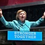 Clinton Denounces Trump in Front of Bankrupt Trump Plaza in Atlantic City